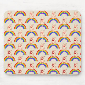 Frenchie celebrates Pride Month on LGBTQ rainbow Mouse Pad