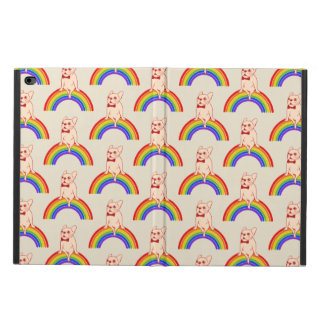 Frenchie celebrates Pride Month on LGBTQ rainbow Powis iPad Air 2 Case