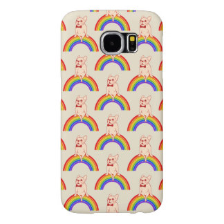 Frenchie celebrates Pride Month on LGBTQ rainbow Samsung Galaxy S6 Cases