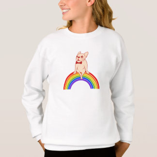Frenchie celebrates Pride Month on LGBTQ rainbow Sweatshirt