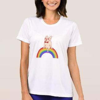 Frenchie celebrates Pride Month on LGBTQ rainbow T-Shirt