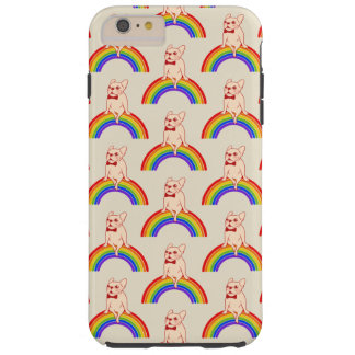 Frenchie celebrates Pride Month on LGBTQ rainbow Tough iPhone 6 Plus Case