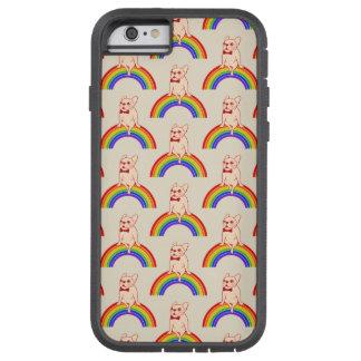 Frenchie celebrates Pride Month on LGBTQ rainbow Tough Xtreme iPhone 6 Case