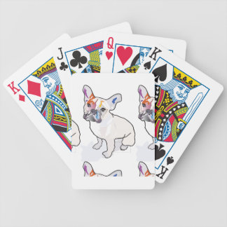 frenchie clown bicycle playing cards