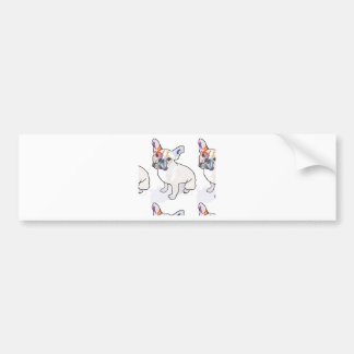 frenchie clown bumper sticker