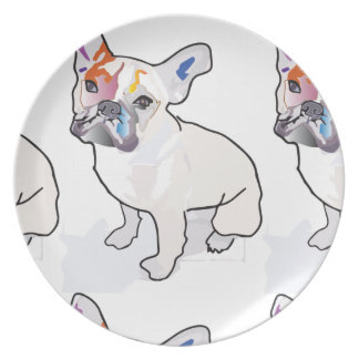 frenchie clown plate