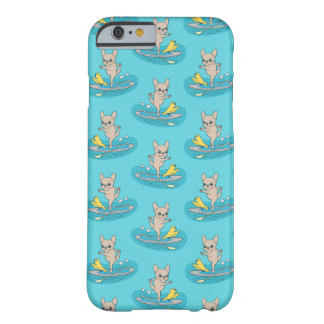 Frenchie doing yoga on stand-up paddle board barely there iPhone 6 case