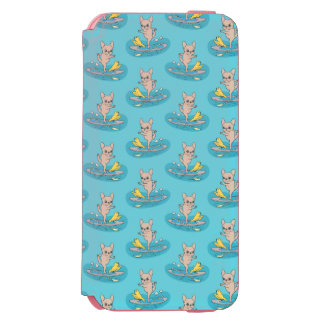 Frenchie doing yoga on stand-up paddle board incipio watson™ iPhone 6 wallet case