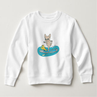 Frenchie doing yoga on stand-up paddle board sweatshirt