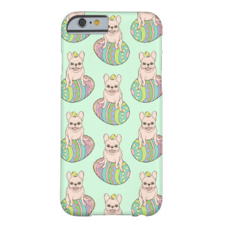 Frenchie & Easter Chick on Colorful Easter Egg Barely There iPhone 6 Case