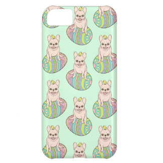 Frenchie & Easter Chick on Colorful Easter Egg iPhone 5C Case