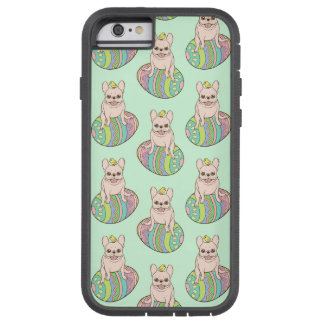 Frenchie & Easter Chick on Colorful Easter Egg Tough Xtreme iPhone 6 Case
