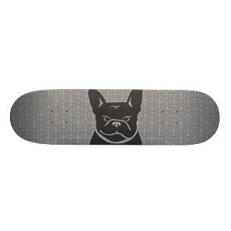 FRENCHIE FLEUR DE LIS Charcoal Grey Skateboard