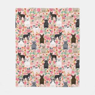 Frenchie Floral Blanket - french bulldog