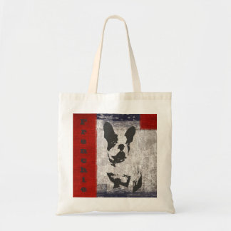 Frenchie French Bulldog Distressed Tote