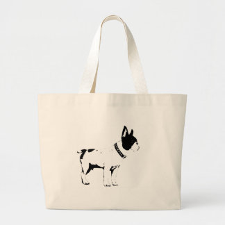 frenchie large tote bag