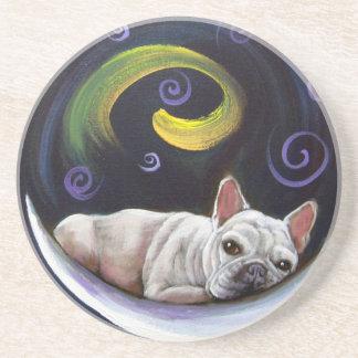 Frenchie Moon Coaster