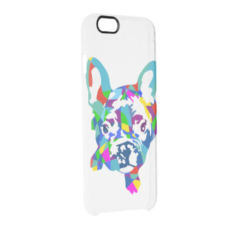 Frenchie on clear clear iPhone 6/6S case