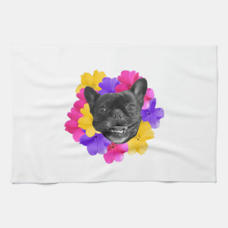 Frenchie Pansies Towel