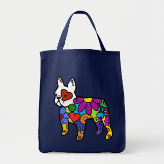 Frenchie Power Grocery Tote Bag