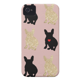 Frenchie Silhouette Pattern iPhone 4 Case-Mate Case