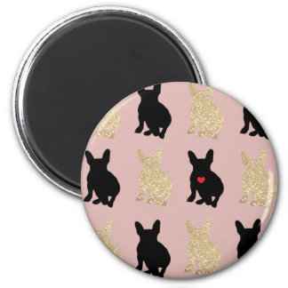 Frenchie Silhouette Pattern Magnet