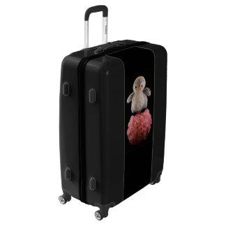 Frenchie the Penguin Large Sized Luggage Suitcase