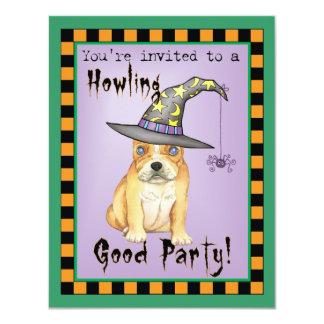 Frenchie Witch 11 Cm X 14 Cm Invitation Card