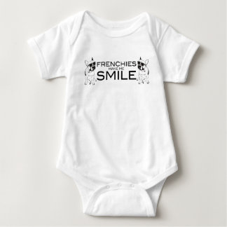 Frenchies Make Me Smile | French Bulldog Lovers Baby Bodysuit