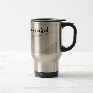 Frenchie's thirsty! travel mug