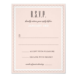 Frenchy Formal Wedding Reply Card