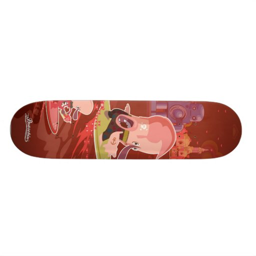 Frenchy Romance - New York Custom Skateboard