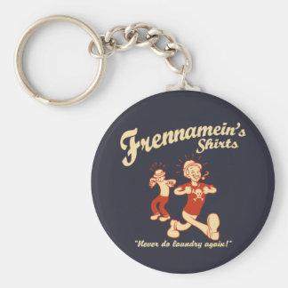 Frennamein's Shirts Basic Round Button Key Ring