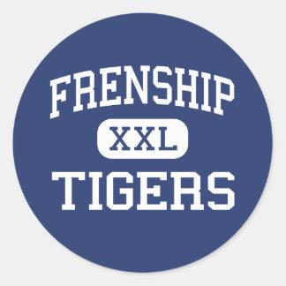 Frenship - Tigers - Junior - Wolfforth Texas Classic Round Sticker