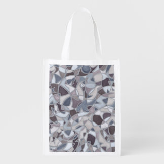 Frenzied Fish Abstract Art Reusable Grocery Bag