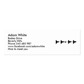 Frequence music business cards