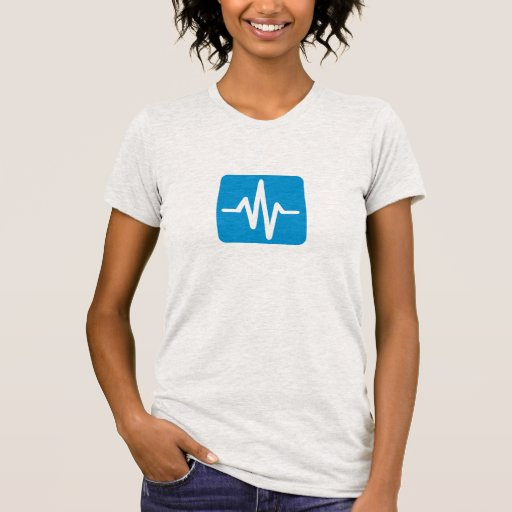 Frequency pulse heartbeat t-shirts