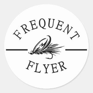 Frequent Flyer Classic Round Sticker
