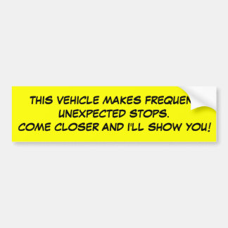 Frequent Stops Car Bumper Sticker