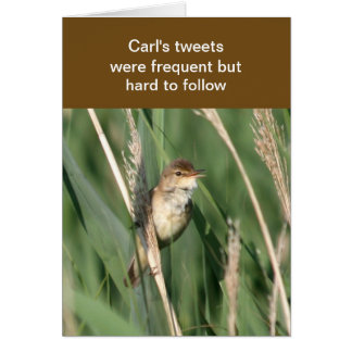 Frequent tweets card