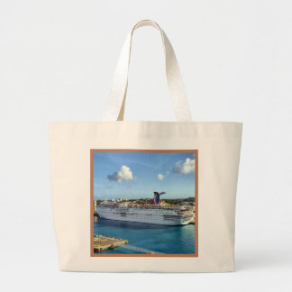 Frequent Visitor Cruise Ship Jumbo Tote Bag