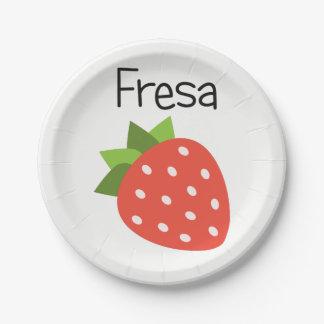 Fresa (Strawberry) Paper Plate