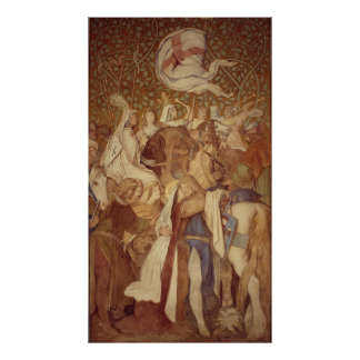 Fresco, Elisabeth-Galerie, Wartburg Castle Poster