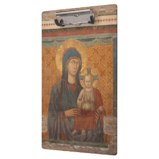 Fresco Of Madonna And Child Clipboards