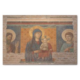 Fresco Of Madonna And Child Tissue Paper