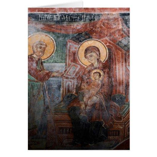 Frescoes from the 14th Century Serbian Church, 2 Card