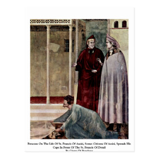Frescoes On The Life Of St. Francis Of Assisi Post Card