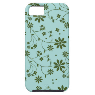 Fresh and Fancy Floral - Blue (2) iPhone 5 Cover