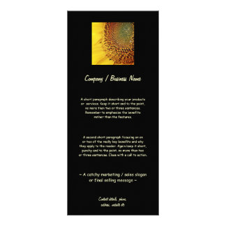 Fresh and Golden Sunflower Rack Card