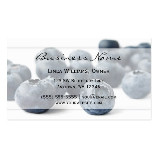 Fresh and Modern Blueberries Pack Of Standard Business Cards